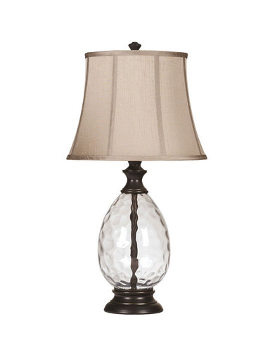 Shop Ashley Furniture Olivia Bronze Finish Glass Table Lamp (2/CN) at Mealey's Furniture