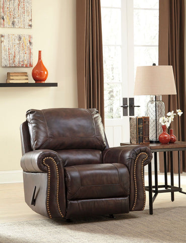 Shop Ashley Furniture Bristan Walnut Rocker Recliner at Mealey's Furniture