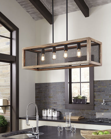 Shop Ashley Furniture Jodene Wood Pendant Light (1/CN) at Mealey's Furniture