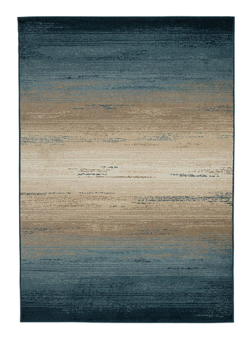 Shop Ashley Furniture Ignacio Blue/Tan Medium Rug at Mealey's Furniture