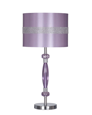 Shop Ashley Furniture Nyssa Purple Metal Table Lamp (1/CN) at Mealey's Furniture
