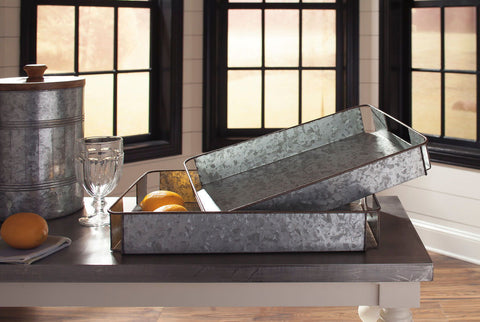Shop Ashley Furniture Dido Gray/Black Tray Set (2/CN) at Mealey's Furniture