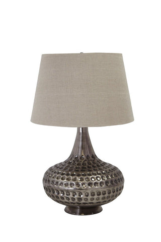 Sarely Pewter Finish Metal Table Lamp (1/CN)