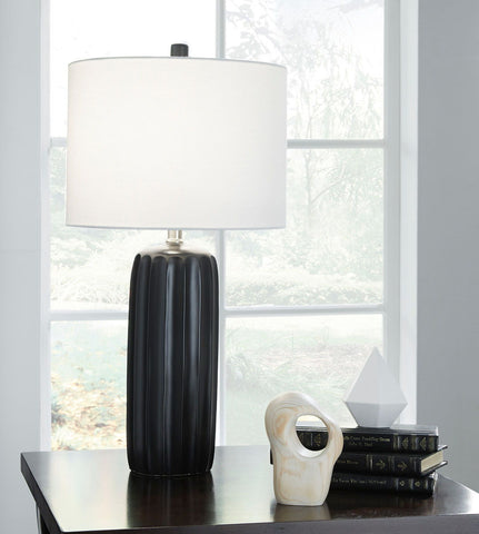 Shop Ashley Furniture Adorlee Black Ceramic Table Lamp (2 at Mealey's Furniture