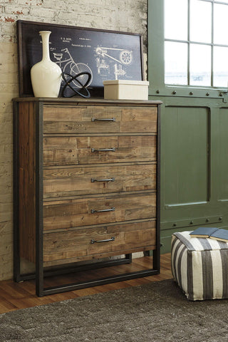 Shop Ashley Furniture Sommerford Five Drawer Chest at Mealey's Furniture