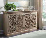 Shop Ashley Furniture Fossil Ridge Amber Console at Mealey's Furniture