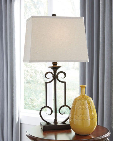 Shop Ashley Furniture Ainslie Bronze Metal Table Lamp (2/CN) at Mealey's Furniture