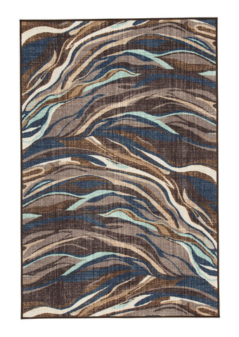 Shop Ashley Furniture Jochebed Blue/Brown Medium Rug at Mealey's Furniture