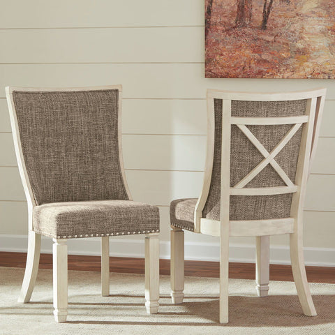 Shop Ashley Furniture Bolanburg Dining Uph Back Side Chair (2/N) at Mealey's Furniture