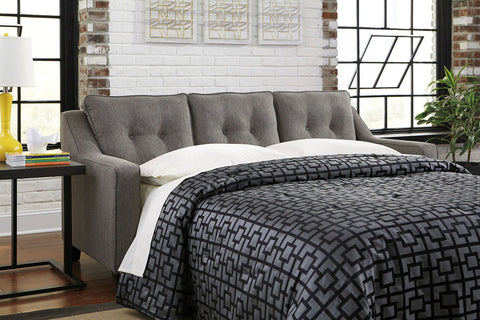 Shop Ashley Furniture Brindon Queen Sofa Sleeper   Charcoal at Mealey's Furniture