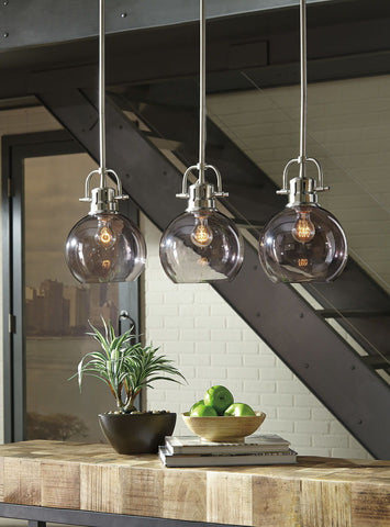 Shop Ashley Furniture Johano Glass Pendant Light (1/CN) at Mealey's Furniture