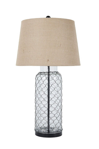 Shop Ashley Sharmayne Transparent Glass Table Lamp (1/CN) at Mealey's Furniture