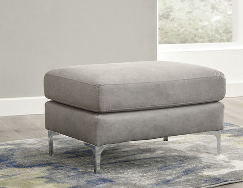 Shop Ashley Furniture Ryler Steel Ottoman at Mealey's Furniture