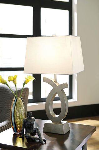 Shop Ashley Furniture Amayeta Silver Finish Poly Table Lamp (2/CN) at Mealey's Furniture