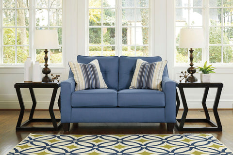 Shop Ashley Furniture Aldie Blue Loveseat at Mealey's Furniture