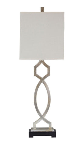 Shop Ashley Furniture Taggert Silver Leaf Metal Table Lamp (1/CN) at Mealey's Furniture
