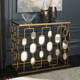 Shop Ashley Furniture Majaci Gold Finish Console Table at Mealey's Furniture