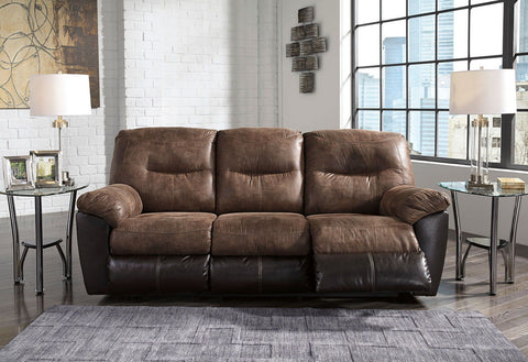 Shop Ashley Furniture Follett Coffee Reclining Sofa at Mealey's Furniture