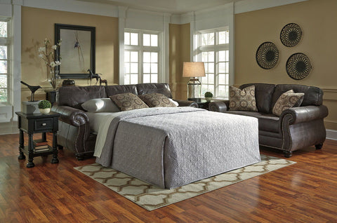 Shop Ashley Furniture Breville Charcoal Queen Sofa Sleeper at Mealey's Furniture