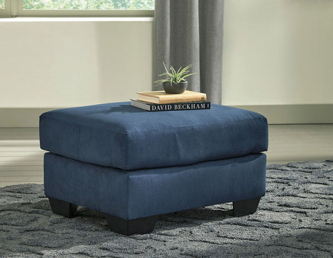 Shop Ashley Furniture Darcy Blue Ottoman at Mealey's Furniture