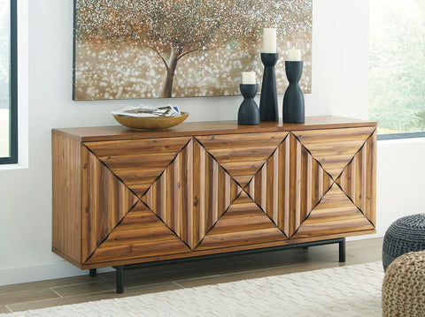 Shop Ashley Furniture Fair Ridge Warm Brown Door Accent Cabinet at Mealey's Furniture