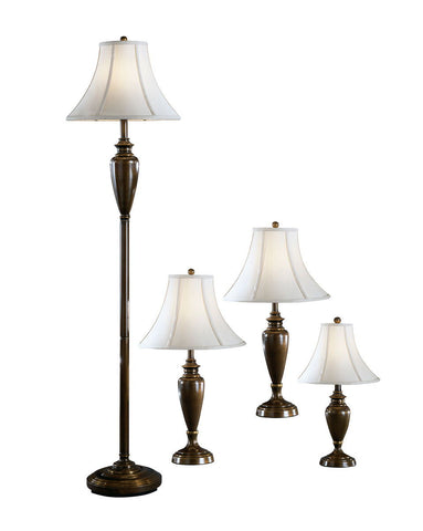 Shop Ashley Furniture Caron Antique Brass Finish Metal Lamp (4/CN) at Mealey's Furniture
