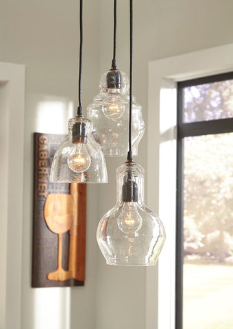 Shop Ashley Furniture Adelphia Clear Glass Pendant Light (1/CN) at Mealey's Furniture