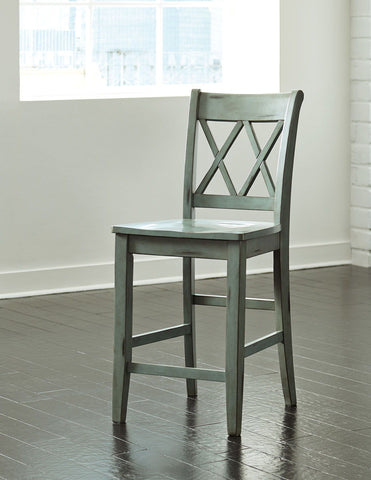 Shop Ashley Furniture Mestler Barstool   Antique Blue at Mealey's Furniture