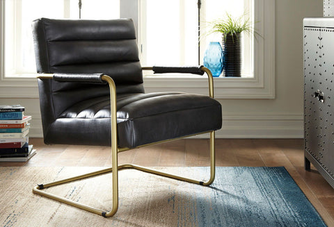 Shop Ashley Furniture Hackley Black Accent Chair at Mealey's Furniture