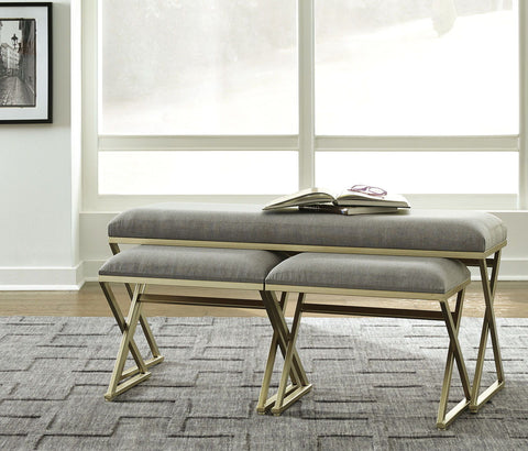Shop Ashley Furniture Emanita- Neutral Accent Bench Set (3/CN) at Mealey's Furniture