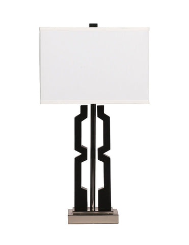 Shop Ashley Furniture Mitzi Black/Silver Finish Poly Table Lamp (2/CN) at Mealey's Furniture