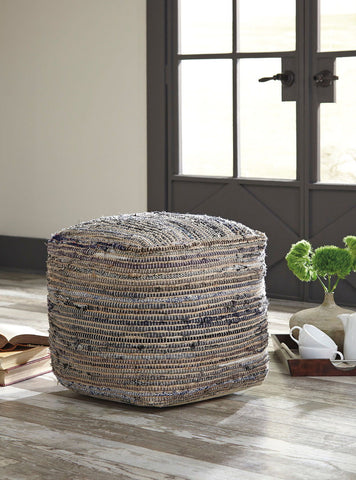 Shop Ashley Furniture Absalom Natural Pouf at Mealey's Furniture