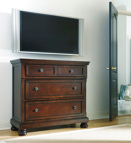 Shop Ashley Furniture Porter Media Chest at Mealey's Furniture