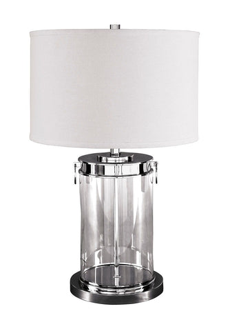 Shop Ashley Furniture Tailynn Clear/Silver Finish Glass Table Lamp (1/CN) at Mealey's Furniture