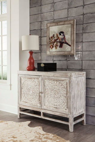 Shop Ashley Furniture Fossil Ridge Light Brown Door Accent Cabinet at Mealey's Furniture