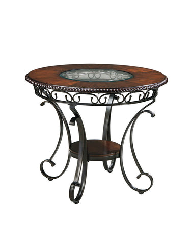 Shop Ashley Furniture Glambrey Round Counter Table at Mealey's Furniture
