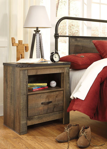 Shop Ashley Furniture Trinell Brown One Drawer Night Stand at Mealey's Furniture