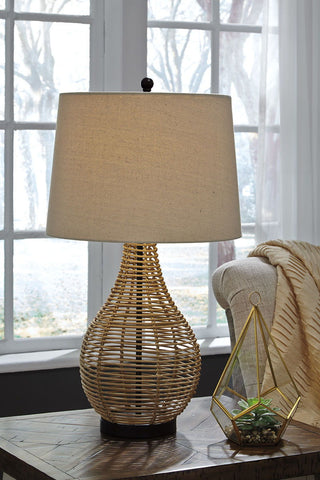 Shop Ashley Furniture Erwin Brown Rattan Table Lamp (2/CN) at Mealey's Furniture