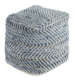 Shop Ashley Furniture Chevron Blue Pouf at Mealey's Furniture