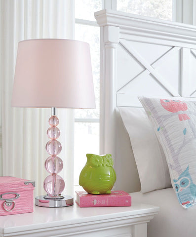 Shop Ashley Furniture Letty Pink Crystal Table Lamp (1/CN) at Mealey's Furniture