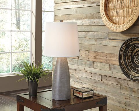 Shop Ashley Shavontae Gray Poly Table Lamp (2/CN) at Mealey's Furniture
