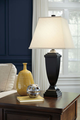 Shop Ashley Furniture Amerigin Bronze Finish Poly Table Lamp (2/CN) at Mealey's Furniture