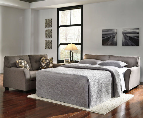 Shop Ashley Furniture Tibbee Slate Full Sofa Sleeper at Mealey's Furniture