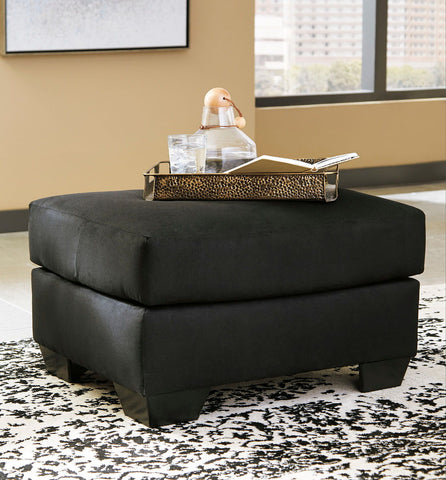 Shop Ashley Furniture Darcy Black Ottoman at Mealey's Furniture