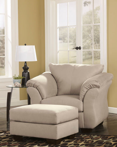 Shop Ashley Furniture Darcy Stone Ottoman at Mealey's Furniture