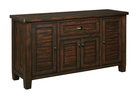 Shop Ashley Furniture Trudell Dark Brown Dining Room Server at Mealey's Furniture