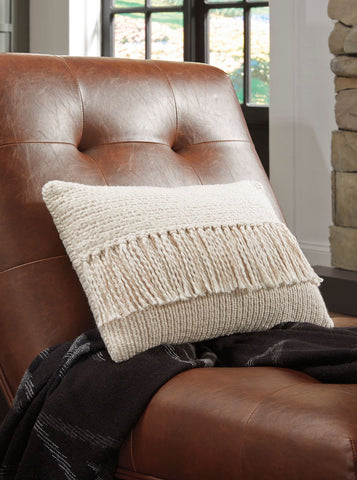 Shop Ashley Furniture Medea Tan/Cream Pillow at Mealey's Furniture