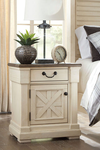 Shop Ashley Furniture Bolanburg Antique White One Drawer Night Stand at Mealey's Furniture