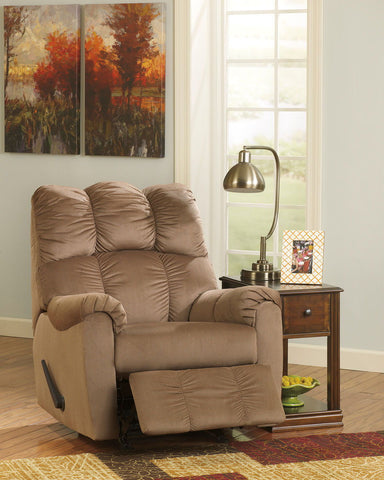 Shop Ashley Furniture Raulo Mocha Rocker Recliner at Mealey's Furniture
