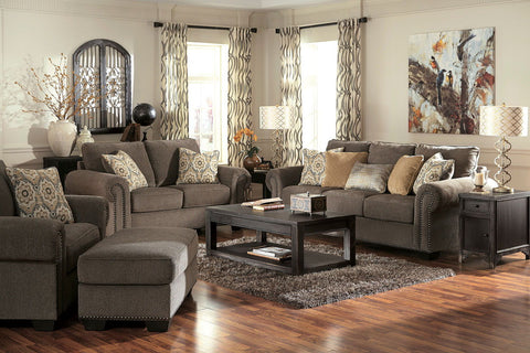 Shop Ashley Furniture Emelen Alloy Ottoman at Mealey's Furniture